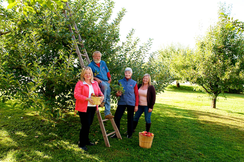 The staff at Alyson's Orchard